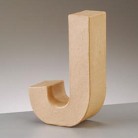 3D Dekobuchstabe aus Pappmache 17,5cm J