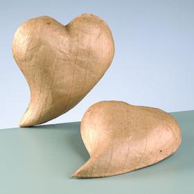 3D-Element Herz geschwungen 11 x 9,3 x 2,5 cm