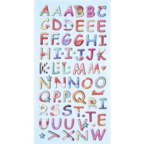 SOFTY-Stickers Design Buchstaben bunt