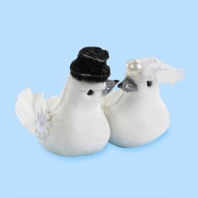 CREApop® Figur Hochzeitstauben-Paar ca. 5 cm