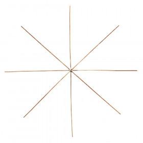 Drahtsterne für Perlensterne 8-strahlig 15 cm 4 Stk.