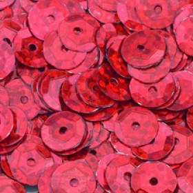 Pailletten rot hologramm 6mm gewölbt 4000 Stück