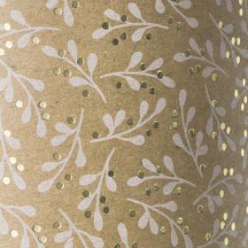Karton 50x70 Mistel weiß/goldfarben glänzend naturfarben