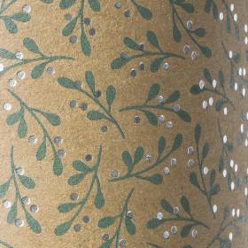 Karton 50x70 Mistel grün/silberfarben glänzend naturfarben