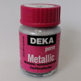 Stoffmalfarbe Deka PermMetallic Silber 25ml