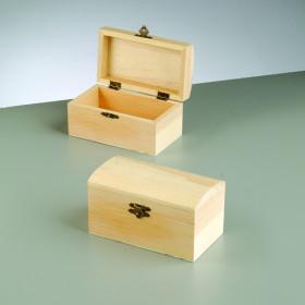 Holzkiste abgerundeter Deckel 13,8 x 8 x 7,5 cm roh