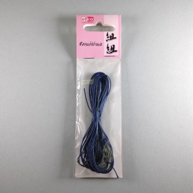 Baumwollkordel blau 1mm gewachst 6m