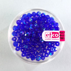 Glasfacettperlen blau irisierend 4mm 100 Stück