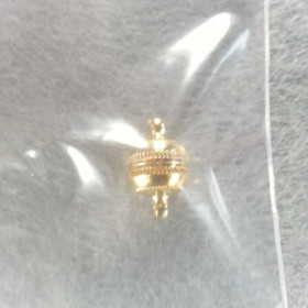 Magnetverschluss Kugel 8mm vergoldet 2 Stück