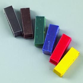 Farbpigmentstäbchen für Wachs 6 Stk. sortiert