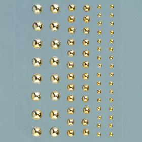 Halbperlen gold selbstklebend 72 Stk.
