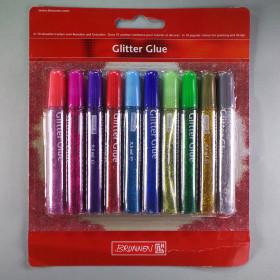 Glitter Glue 10 x 9,5 ml lösemittelfrei
