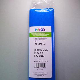 Krepp-Papier himmelblau Rolle 50 x 250 cm