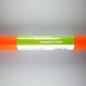 Transparentpapier orange 70x100cm gerollt 42g/m²