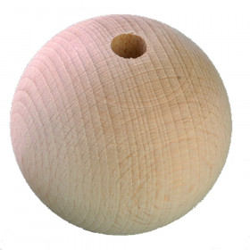 Holzkugel 15mm mit Loch natur 18 Stück
