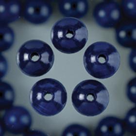 Holzperlen blau 10mm 53 Stück