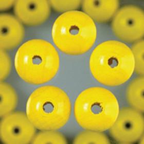 Holzperlen gelb 10mm 53 Stück