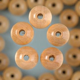 Holzperlen natur 14mm 18 Stück