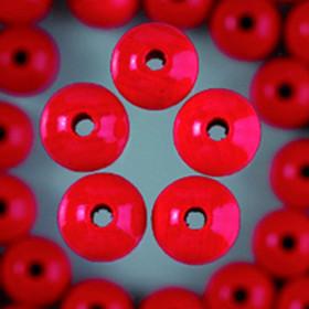 Holzperlen rot 10mm 53 Stück