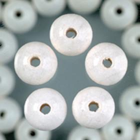 Holzperlen weiß 10mm 53 Stück