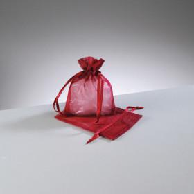 Organzasäckchen dunkel rot 7,5 x 10 cm