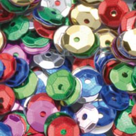 Pailletten bunt 6mm gewölbt 4000 Stück