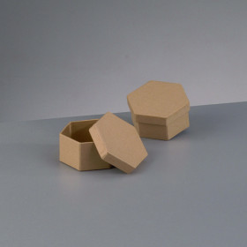Papp-Box mini Sechseck 7 - 8 x 4 cm