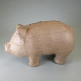 PappArt Figur Spardose Schwein 16,5 x 8 x 10 cm