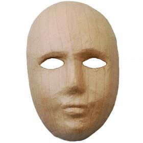 Papp-Maske Gesicht 21,5 x 13,5 cm