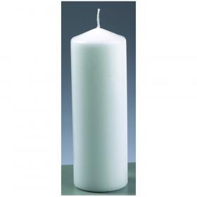 Stumpenkerze weiß 7cm x 20cm