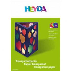 Transparentpapier-Mappe 10 Farben 20x30cm 42g/m²