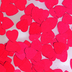 Pailletten Herz rot