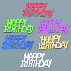 Pailletten Happy Birthday