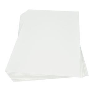 Moosgummiplatte weiß