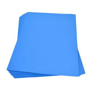 Moosgummiplatte blau
