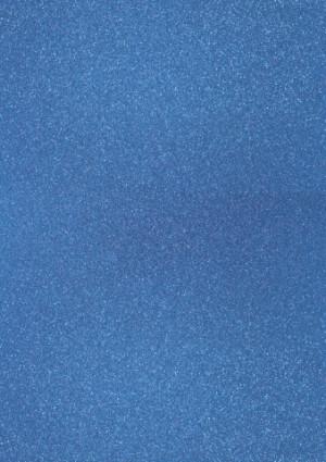 Glitterkarton A4 pfauenblau