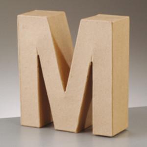 3D Dekobuchstabe aus Pappmache 17,5cm M