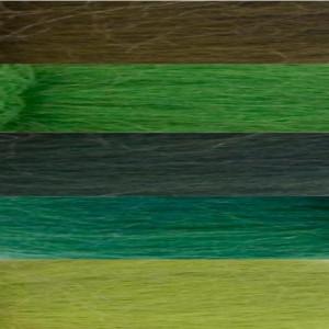 Filzwolle Kammzug Grüntöne 50g