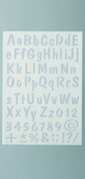 Schablone Buchstaben+Zahlen