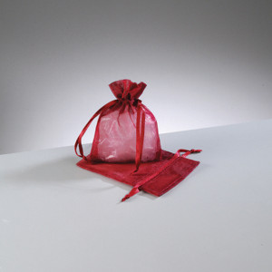 Organzasäckchen dunkel rot
