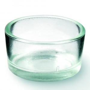 Teelichthalter Glas klar 4cm
